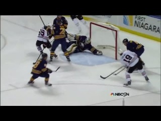 Toews buries one-timer off feed from Saad
