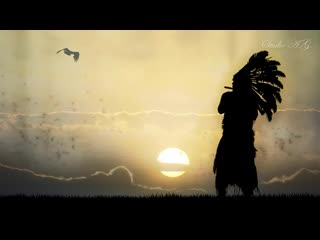 Relaxing music spirit of american indians. native.