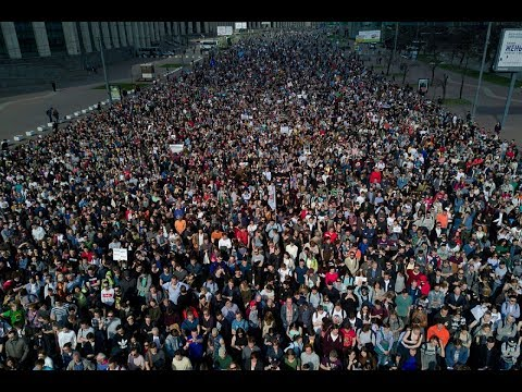 ♐трансляция Митинг в Москве против пенсионной реформы♐