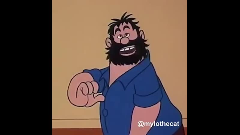 Brutus from Popeye as The Notorious B.I.G. rapping the classic «It's All About the Benjamins» (Video by Mylo the Cat) (2019)