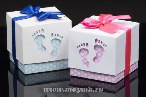 Упаковка подарка для новорожденного своими руками