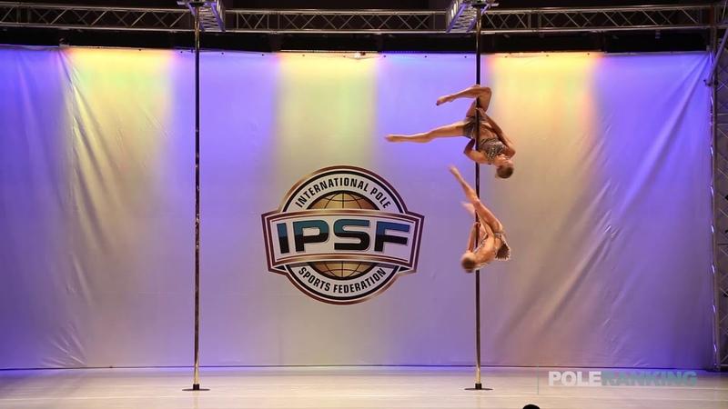Doubles Svetlana Nikonova Ekaterina Abramova of Russia - IPSF World Pole Sports Championships 2018