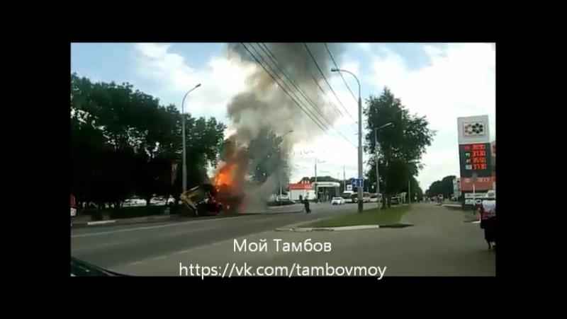ШОК. Во время тушения экскаватора пожарного отбросило взрывной волной на несколько метров!