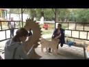 В 12 микрорайоне жильцы сами сделали фигурки для детской площадки