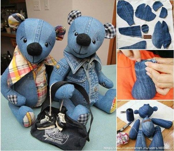 Шьём Тедди из старых джинсов (7 фото)