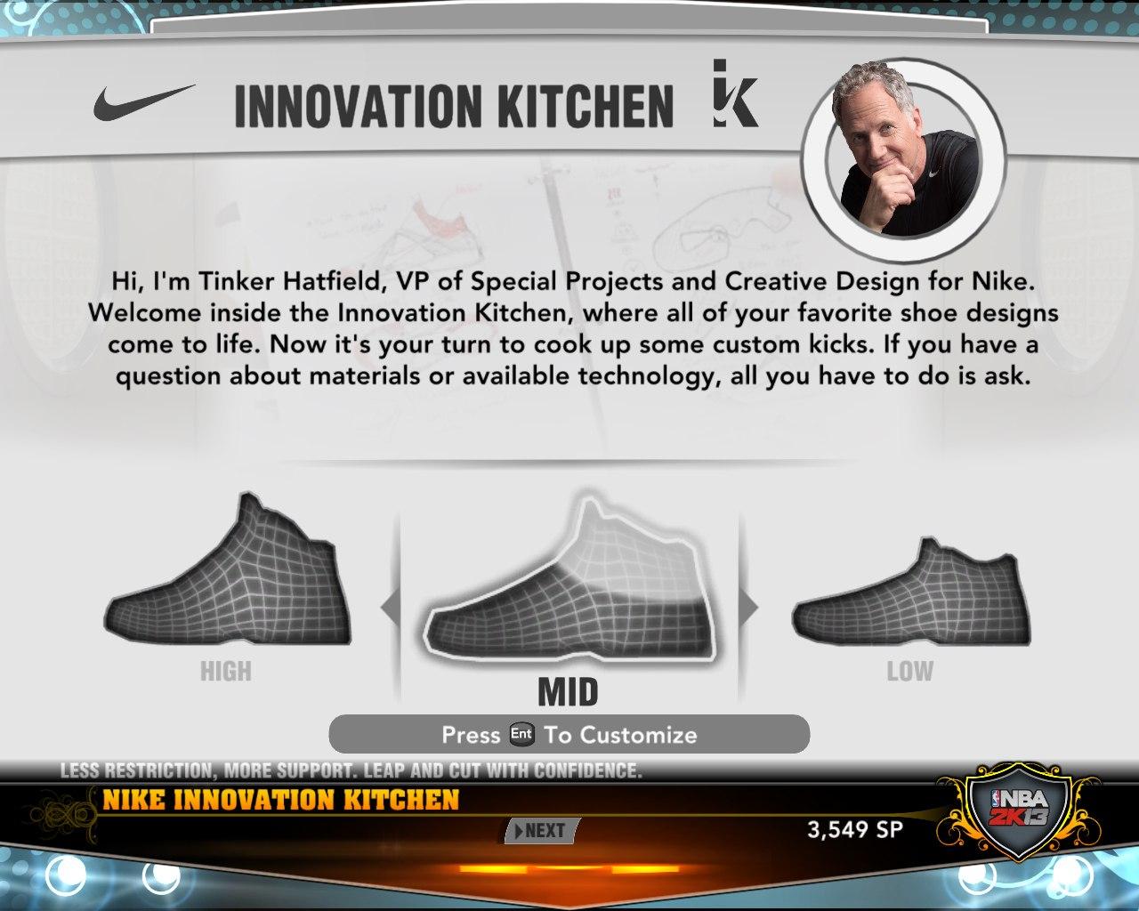 Создание своих фирменных кроссовок в нба2к13