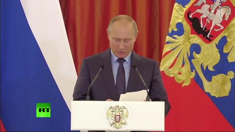 Напугали сладкого! К маме нужно Путин и плачущий ребенок во время вручения орденов Родител