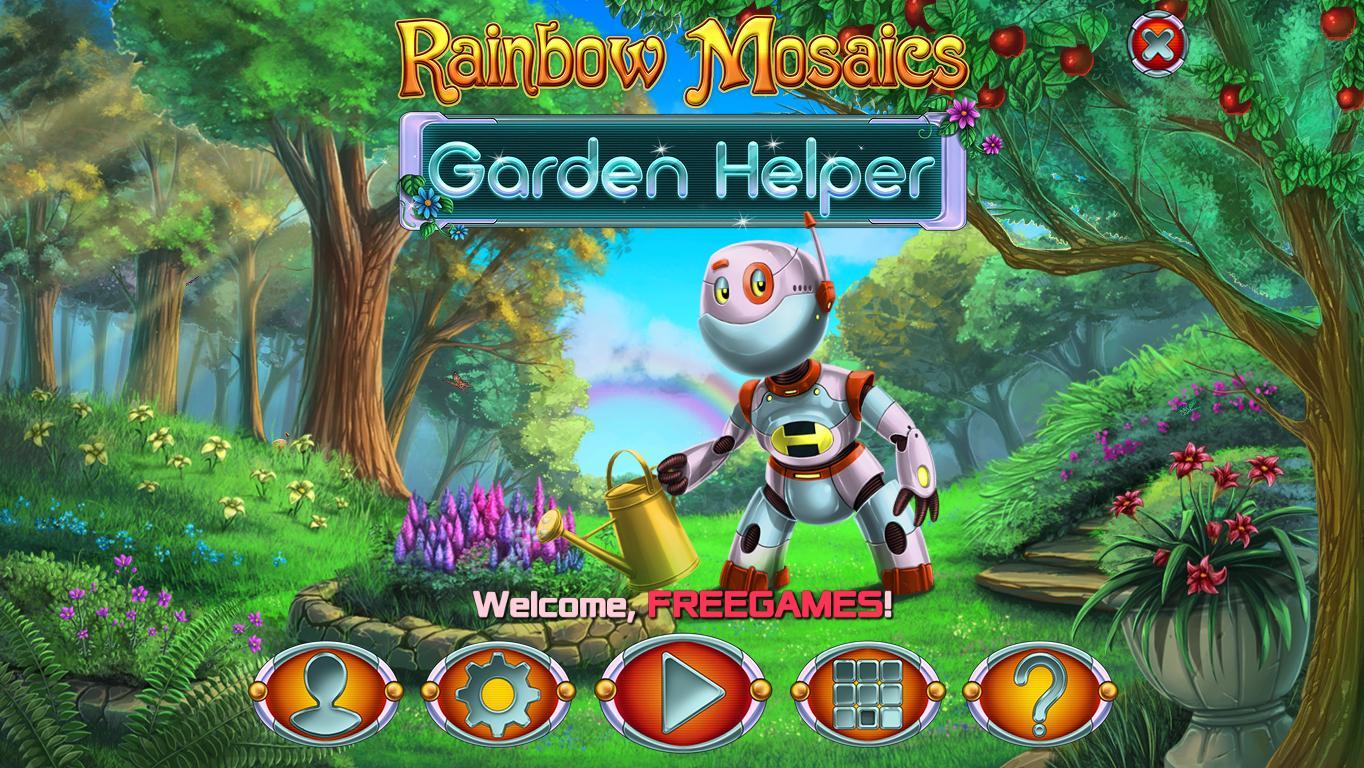 Радужная мозаика 8: Садовый помощник | Rainbow Mosaics 8: Garden Helper (En)