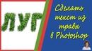 Создание текста из травы в Фотошоп Наложение текстуры на текст