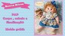 Passo a passo boneca de pano milena- montagem corpo e cabelo- linda boneca de pano
