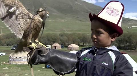 Игры кочевников: в Киргизии прошло состязание охотничьих птиц