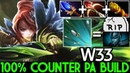 W33 Windranger 100% Counter PA Build Cancer Gameplay 7 20 Dota 2