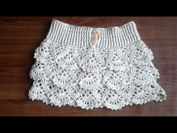 How to Crochet ruffle skirt - video 1