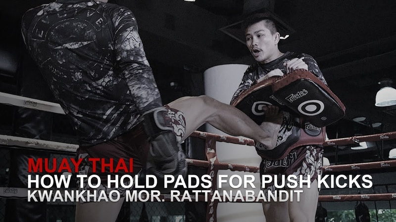 Muay Thai How To Hold Pads For Push Kicks | Evolve University