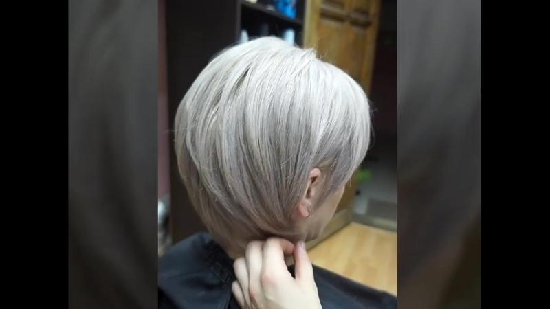 Блонд на 3% оксиде 100% окрашивание седых волос Стрижка Краситель - Estel Haute Couture