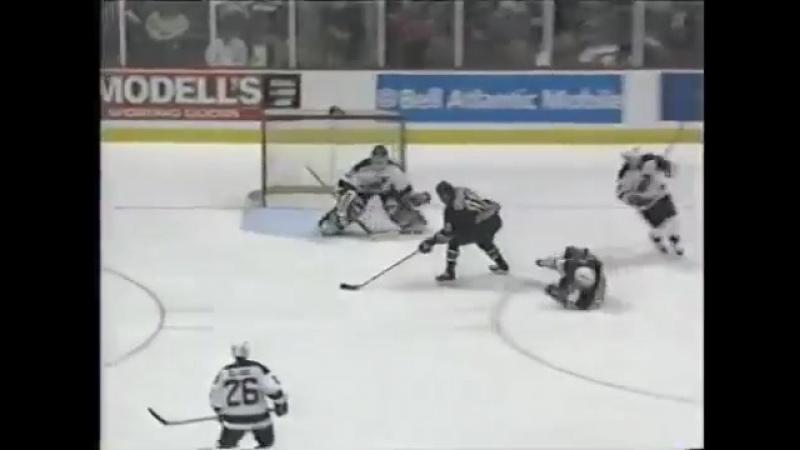Andrei Nikolishin amazing goal against Devils for Capitals 1999 Потрясающий прорыв от Андрея Николишина