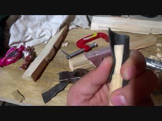 Как намертво насадить топор, кувалду или молоток на деревянную рукоять
