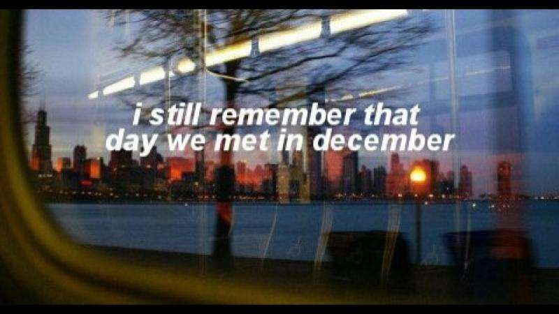 When we met in december