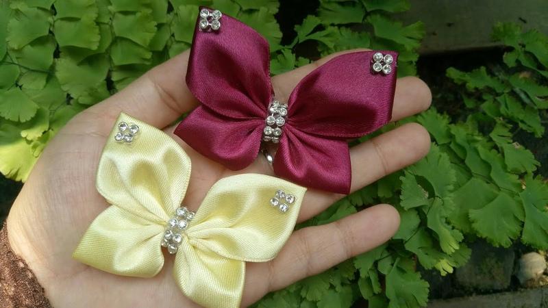 145) DIY-Tutorial    Cara Membuat Bros Kupu-kupu    How to Make Ribbon Butterfly    Simple Kanzashi