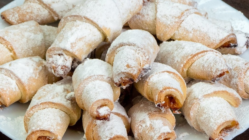 Наконец-то! Самый удачный рецепт вкусных рогаликов с джемом! | Appetitno.TV