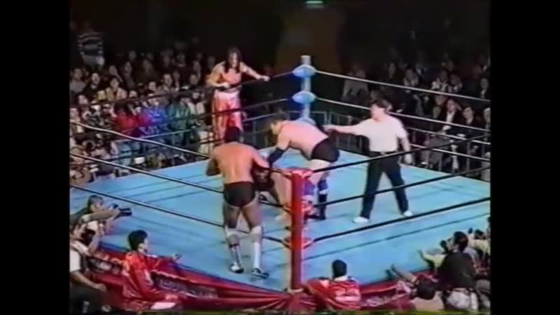 1996.11.22 - Gary Albright/Sabu vs. Stan Hansen/Takao Omori [SPLICED FINISH]