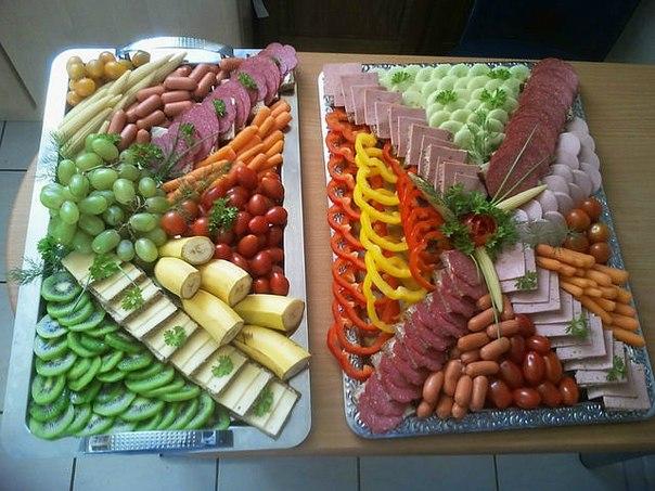 Идеи украшения блюд с нарезкой