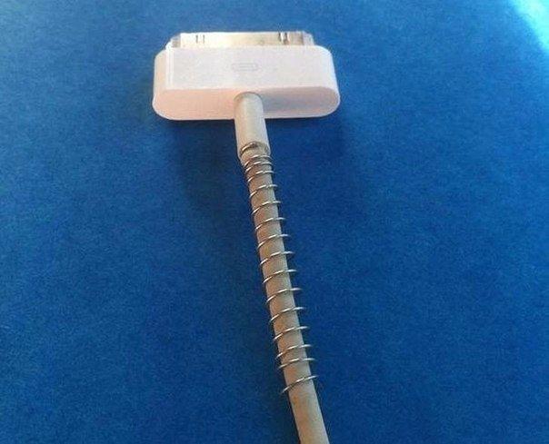 Для защиты зарядных устройств от нежелательного перекручивания и поломки использ...