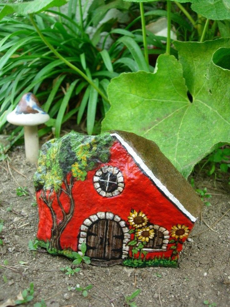 Украшение сада своими руками камни для сада