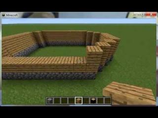 Minecraft 1 красивый дом из камня , дерева и стекла