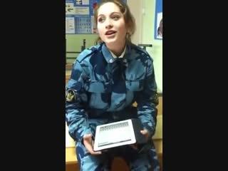 Курсант ФСИН поёт военую песню