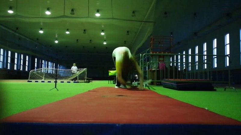 Акробатика в ролиболе. Кувырок с ракеткой.Taiji Rouliqiu. 太极柔力球