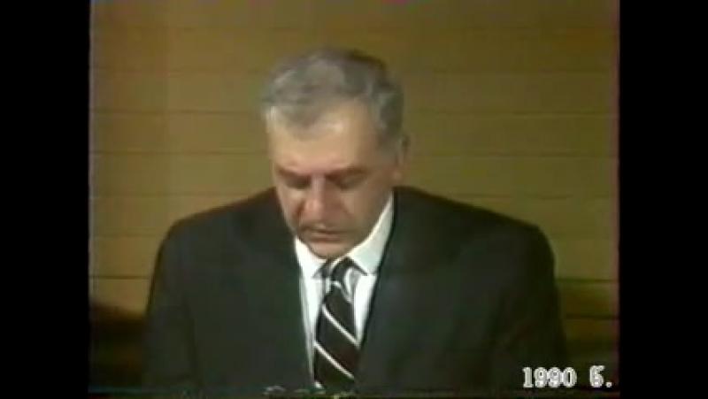 Звиад Гамсахурдиа и офицеры Советской Армии 1990 / 3