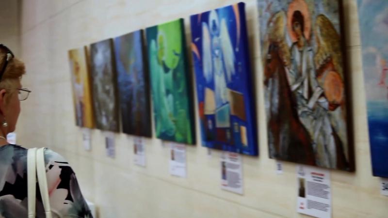 Открытие выставки тактильных картин Ангелы, к которым можно прикоснуться