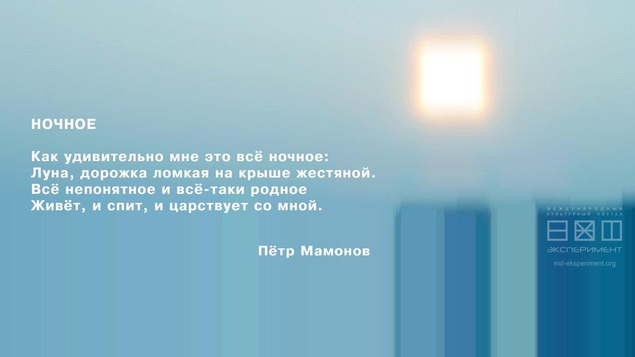 Пётр Мамонов. Ночное