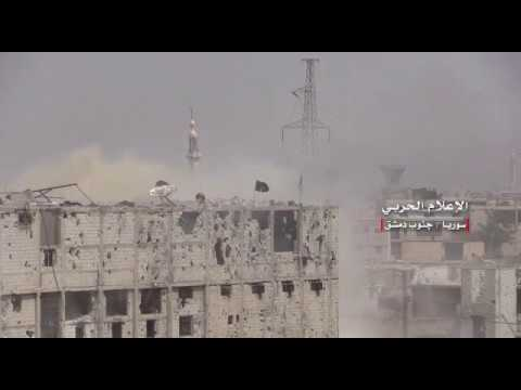 New scenes of the operations of the Syrian army in Yarmouk camp and the Black Stone south of Damascus