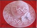 Pălărie de vara, croșetată
