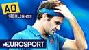 Roger Federer vs Stefanos Tsitsipas Highlights | Australian Open 2019 Round 4 | Eurosport