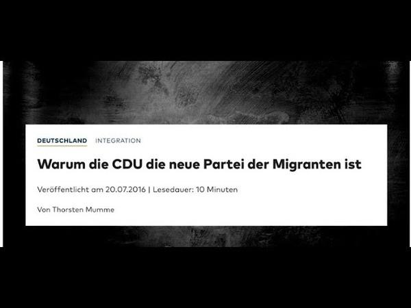 AUFWACHEN CDU Wähler Das Dokument des Verrats - Mirror Martin Sellner