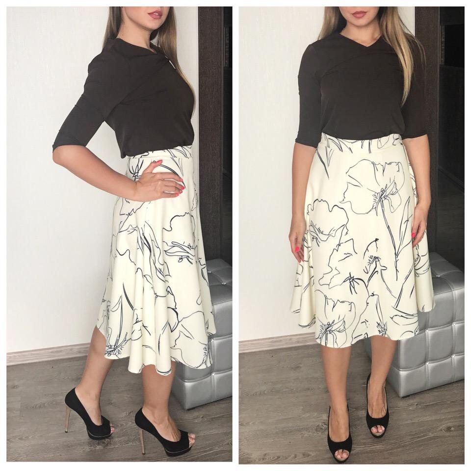 Поэтичная юбка с цветочными набросками из магазина COIGARSAM Store