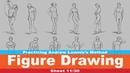 Figure Drawing 11/30 (Practicing Andrew Loomis's Method)