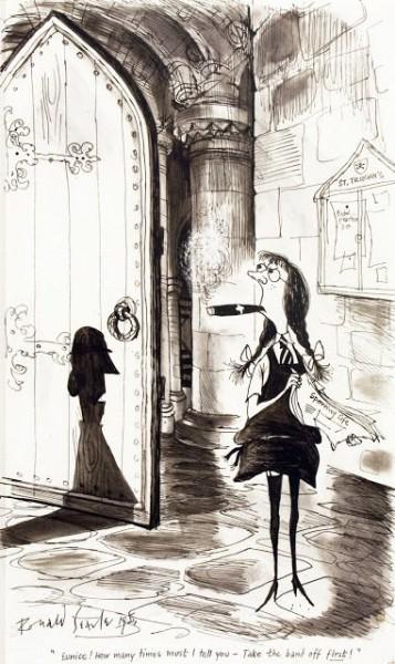 Рональд Сирл - карикатурист, опередивший время. Продолжение