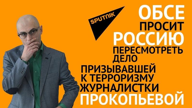 ОБСЕ просит Россию пере дело призывавшей к терроризму журналистки Прокопьевой