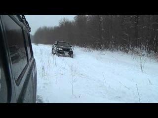 патриот пикап по снегу