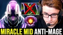 How MIRACLE Anti Mage Mid Solo against Master Tier Rubick M GOD No Fun Allowed