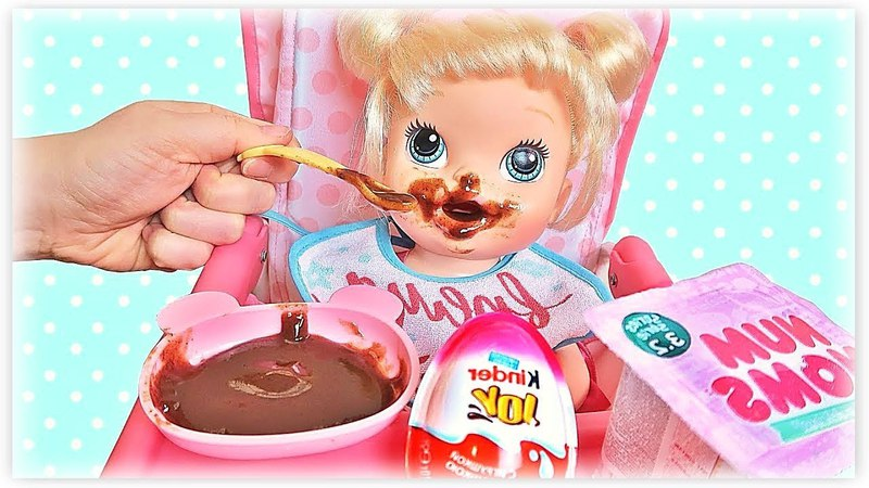 Куклы Пупсики Беби Элайв Анечка и Соня кушают играют открывают сюрпризы на детском канале Зырики ТВ