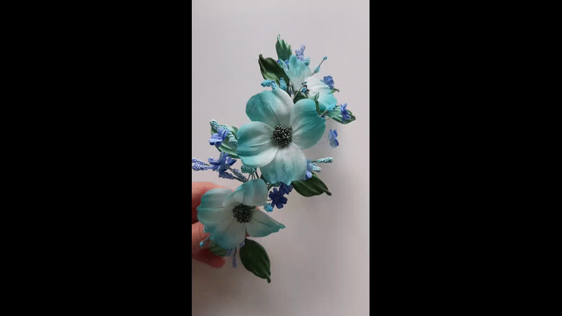 Live Шелковая флористика Цветы из ткани. Обучение.МК.
