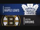 NHL Regular Season 2018 19 Toronto Maple Leafs Boston Bruins
