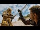 Мечи в песок. Джейме Ланнистер и Бронн против дорнийского патруля. Игра престолов 4K ULTRA HD