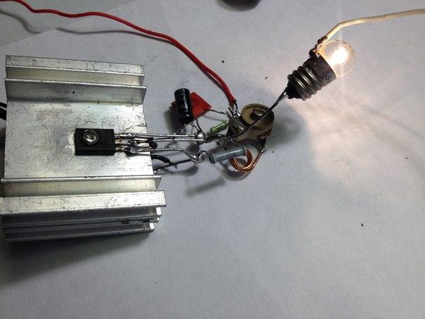 при использовании транзистора