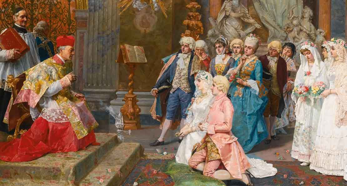 Брак в 18 веке